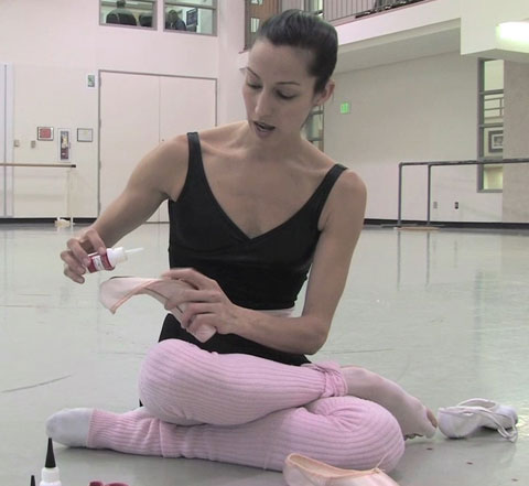 Pointe shoes last longer when hardened with CA Glue from ...