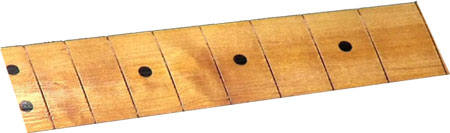 A partially sanded Hot Stuff CA glue finish on a fretboard