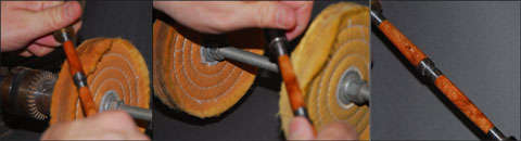 Pen being buffed after finishing with Super T CA Glue from Satellite City Instant Glues