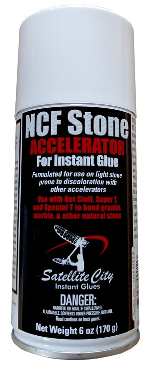 NCFS-6 <b>NCF Stone 6oz</b> CA glue accelerator for use with natural stone